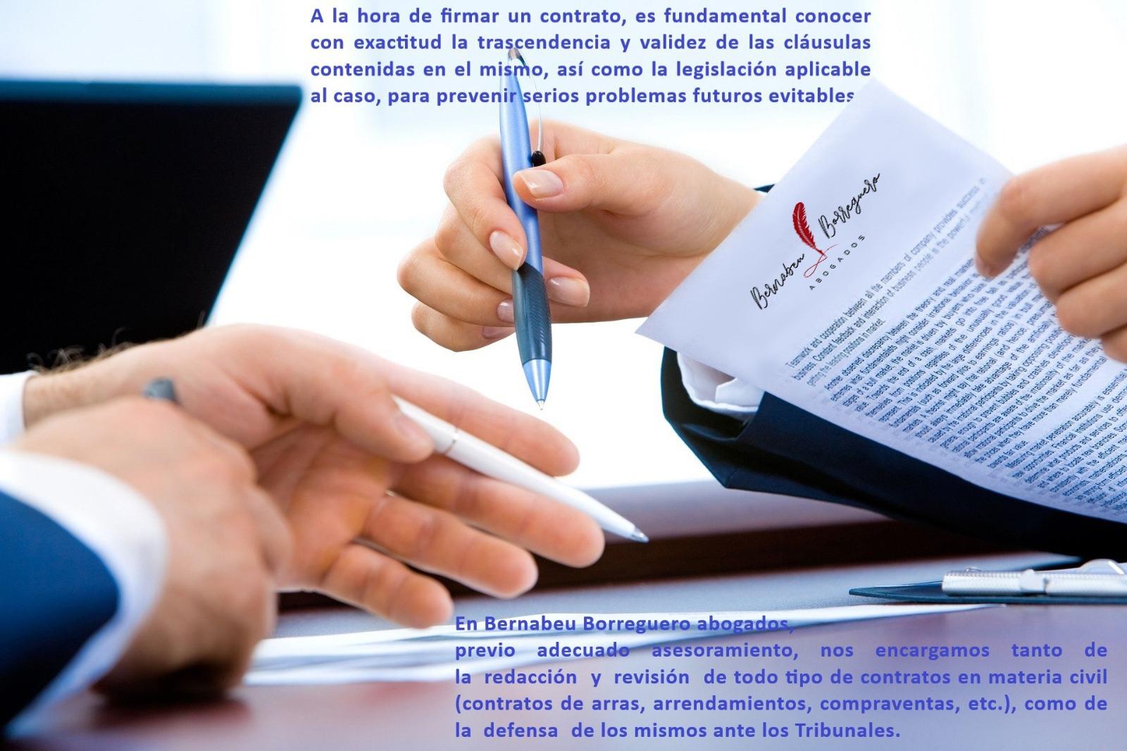 Redacción, revisión y defensa jurídica de contratos